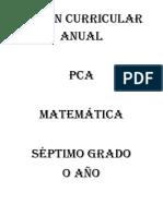 Plan Curricular Anual 2016 - Matemática Dos