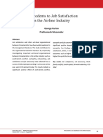 Antecedents to Job Satisfaction in the Airline Industry