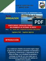 Irrigación Unidad v - 2018-I- Unsm.