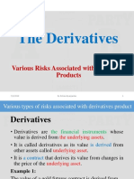 Risk associated with derivative products