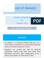concept of annuity