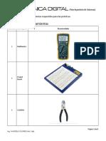 Lista de Materiales E. Digital