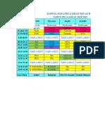 jadwal kelas 3B