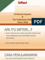 Presentasi Difteri Tim Puskesmas Patek