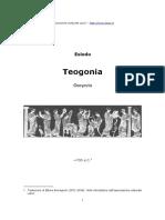 Hesíodo Teogonía en Italiano. Esiodo