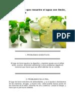 10 Problemas Que Resuelve El Agua Con Limón