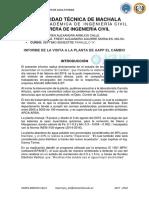 Informe Visita Planta El Cambio
