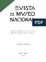 Revista Museo Nacional