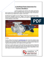 How is the Centrifugal Pump Important for Various Machines