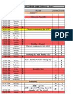 Academic Calendar Asas Ase Amritapuri Jan June 2018