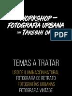 WORKSHOP FOTOGRAFÍA URBANA