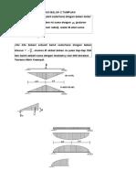 Perhitungan Deformasi Balok 2 Tumpuan