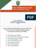 Pokok Pokok Pemikiran UU KIP Sebagai Acuan PPID Dalam Layanan Informasi Publik 2018
