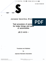 Test Procedure of Porosity for Brake Linings and Pads of Automobiles(Jis d 4418)