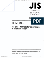 Iron Ores - Methods for Determination of Chromium Content(Jis m 8224)