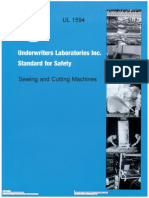 Sewing and Cutting Machines(UL 1594 Ed. 4 (2008))