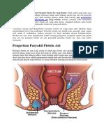 Pengobatan Tradisional Untuk Penyakit Fistula Ani Yang Mudah