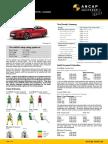 Euroncap 2017 Kia Stinger Datasheet