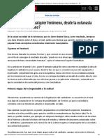 ¿Cómo Legalizar Cualquier Fenómeno, Desde La Eutanasia Hasta El Canibalismo_ - RT