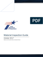 Material Inspection Guide - Texas Dept of Transport