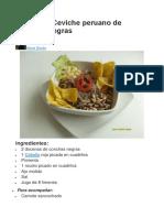 Receta de Ceviche Peruano de Conchas Negras