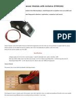 Fingerprint Sensor Module f Pm 10 A