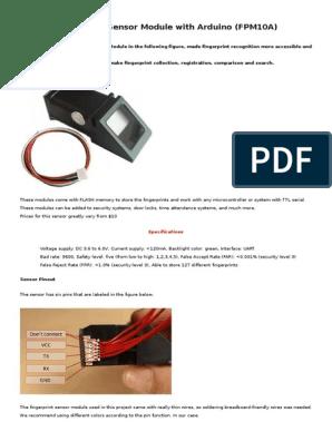 Fingerprint Sensor Module f Pm 10 A   Fingerprint   Arduino