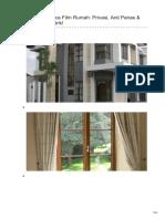 Jasa Pemasangan Stiker Kaca Film Rumah ☎ 081 1154 2354 (Riky)