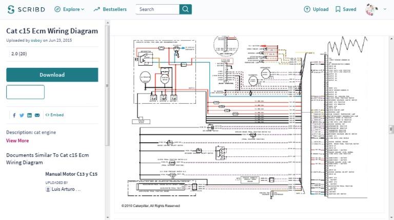 cat c15 ecm wiring diagram rh scribd com