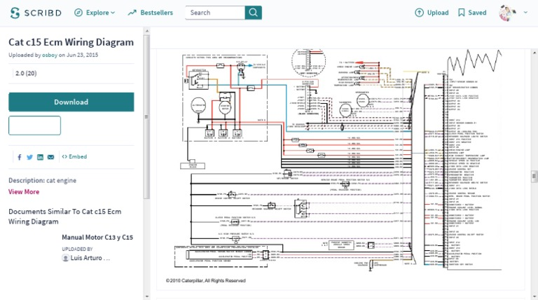 Cat c15 Ecm Wiring Diagram | Throttle | SwitchScribd