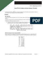 Adresses IPv4 Et Creation de Sous-reseaux 2e Partie