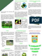 Triptico Sobre Areas Verdes