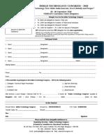 Registration Form - ITC 2018