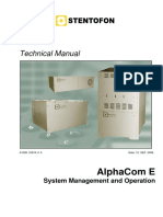 AlphaCom E - System Management and Operation (1)