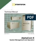 AlphaCom E - System Management and Operation (1)