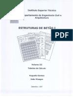 54564454233Estruturas de Betão I - Tabelas de Calculo575454545