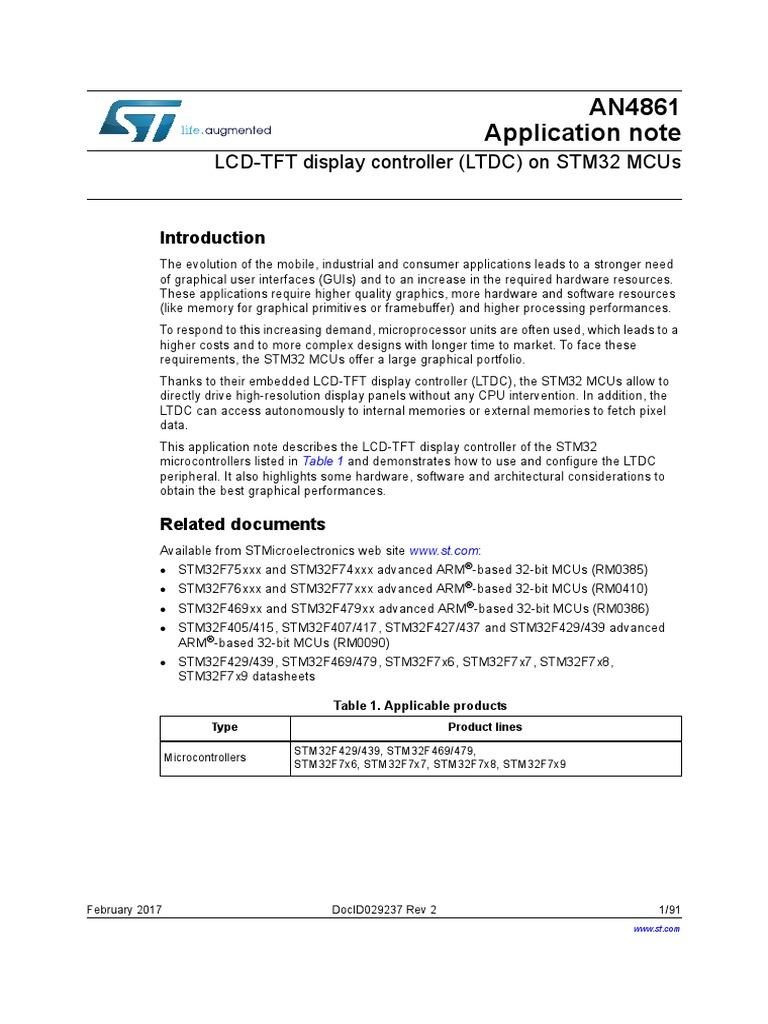 LCD-TFT Display Controller (LTDC) on STM32 MCUs | Thin Film