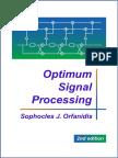 Orfanidis S.J.-optimum Signal Processing-MGH (1988)