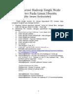 Konfigurasi Hadoop Single Node Cluster Pada Linux V1.04