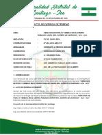 Acta Entrega de Terreno Santa Rita
