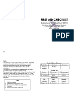 First Aid Checklist 2 Rainbow Gathering 2018