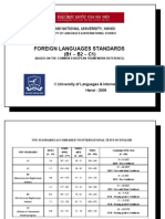 Foreign Languages Standards B1 - B2 - C1