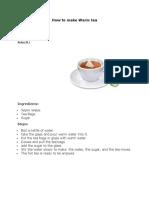 How to make Warm tea.docx