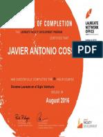 Certificado Docente Laureate en El Siglo Veintiuno
