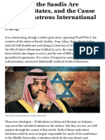 Israel and the Saudis Are Artificial States, And the Cause of the Disastrous International Climate