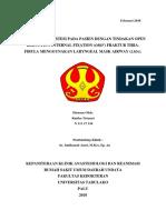 Manajemen Anestesi Pada Pasien Tindakan ORIF Fraktur Tibia-Fibula Pada LMA (Asasdasd)
