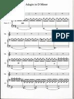 Adagio in D Piano + Violin