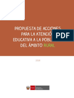 Propuesta de Acciones Educacion Rural