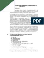 Informe Tecnico Sustentatorio Arbitrios Municpales Para El Ejercicio 2017