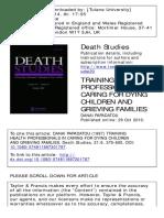 Papadatou1997 Trainingul Personalului Pentru Pedo Oncologie